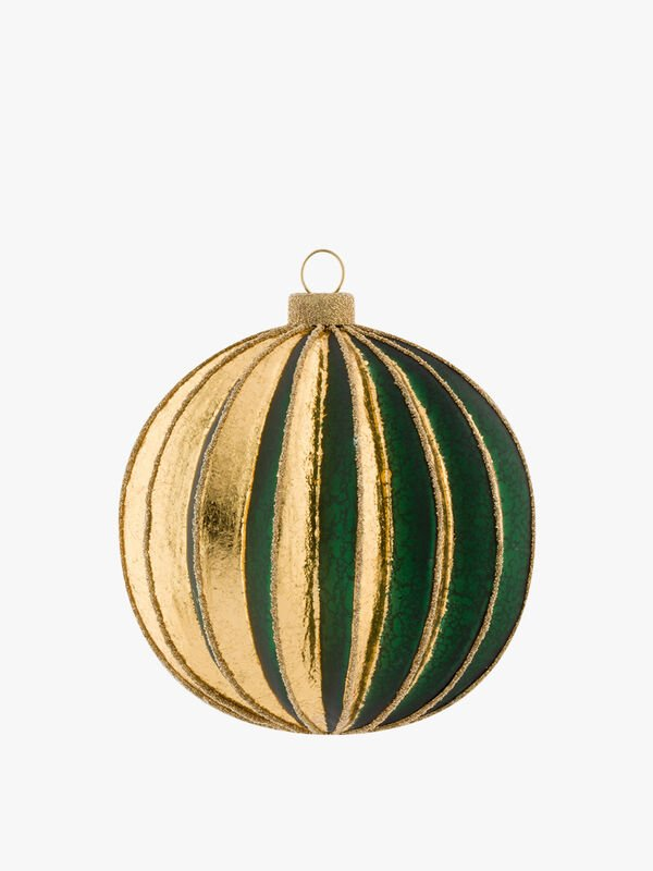 Ribbed Round Bauble