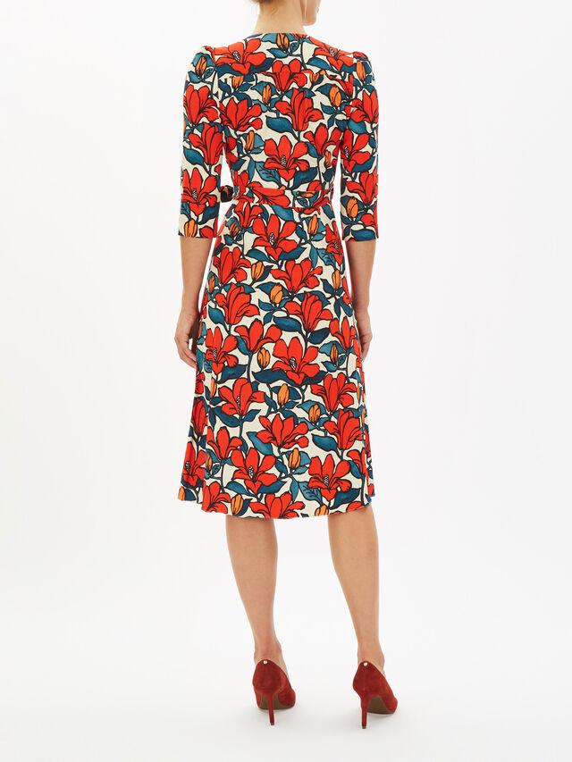 Glenda Hibiscus Print Wrap Dress