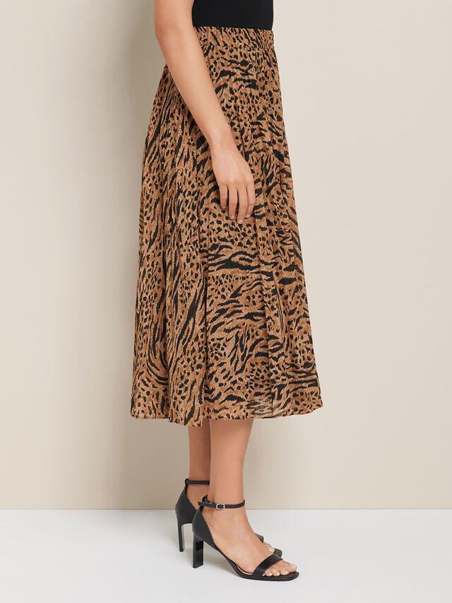 Harper Pleated Midi Skirt