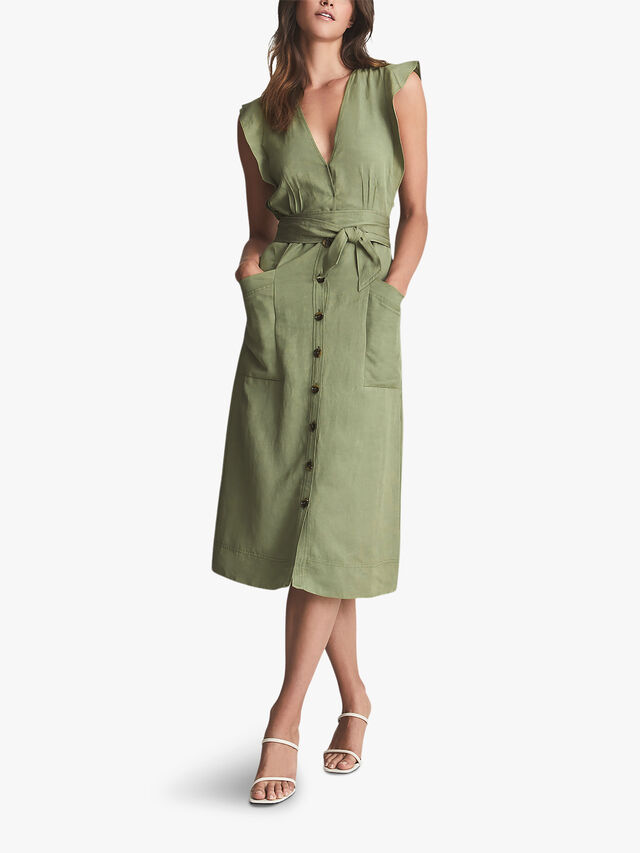 Emma Linen Blend Midi Dress