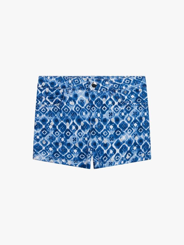 Print 5 Pocket Shorts