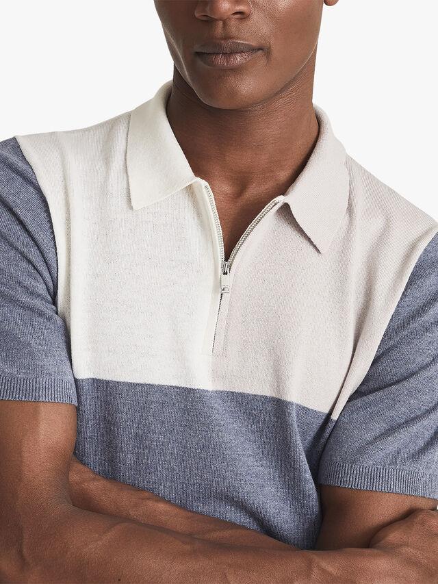 Port Wool Cotton Blend Polo Shirt