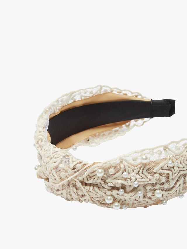Lace Pearl Star Headband