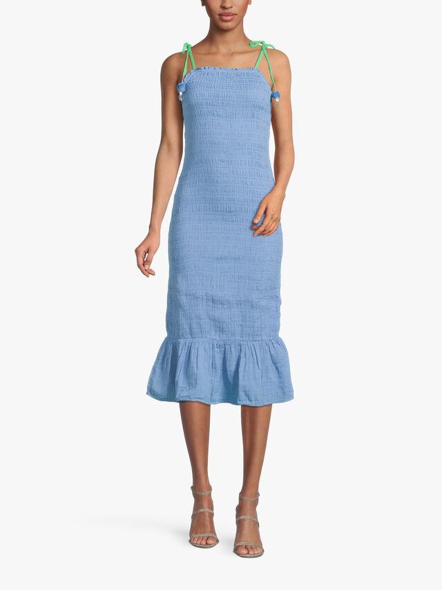 Blue Strappy Jojo Dress