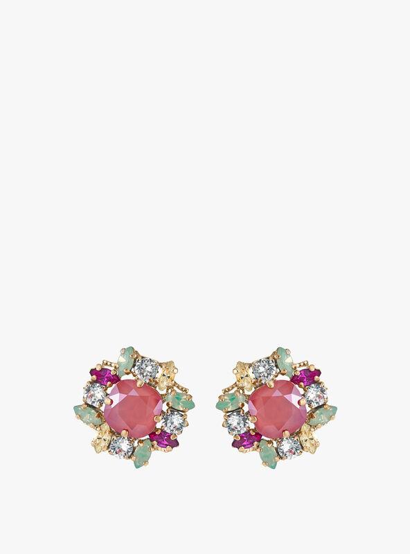 Post Gem Cluste Earrings