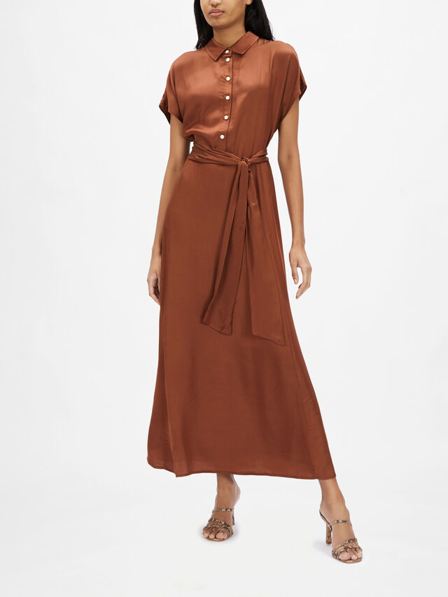 Dita Button Through Shirt Dress