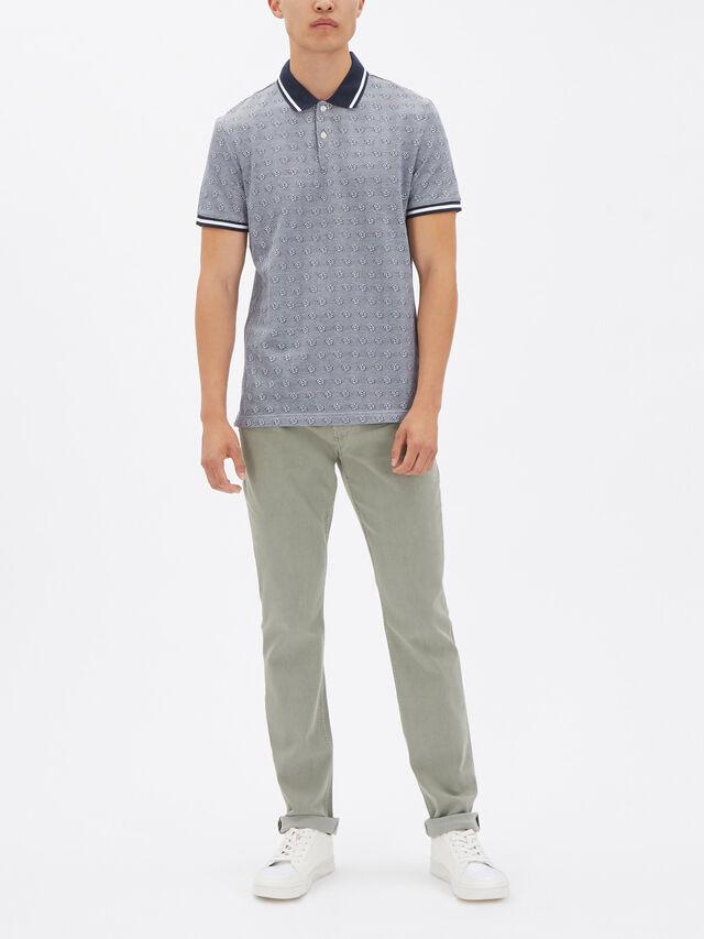 Floral Jacquard Polo Shirt