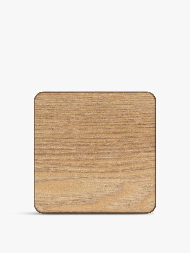 Oak Veneer Coasters Set of 4
