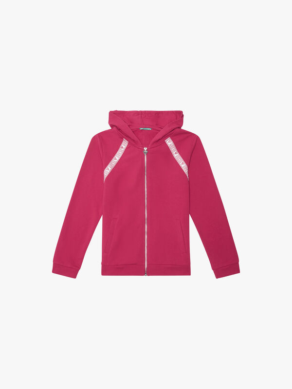 Zip Hoodie with Taping