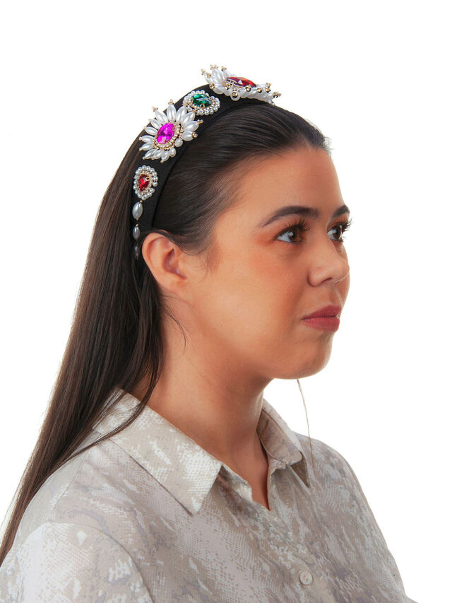 Pearl and Gem Crown Headband