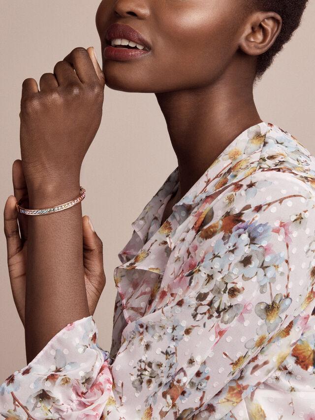 Clemara Hinge Crystal Bangle