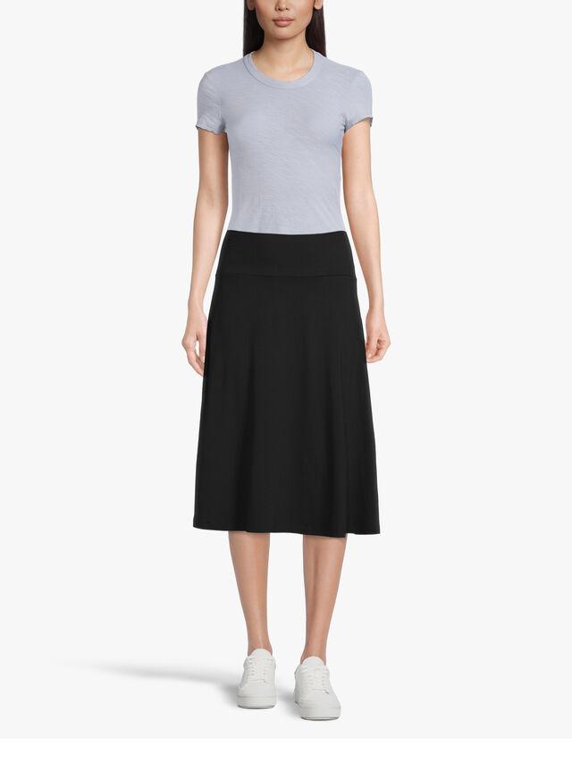 Saba Jersey A Line Midi Skirt