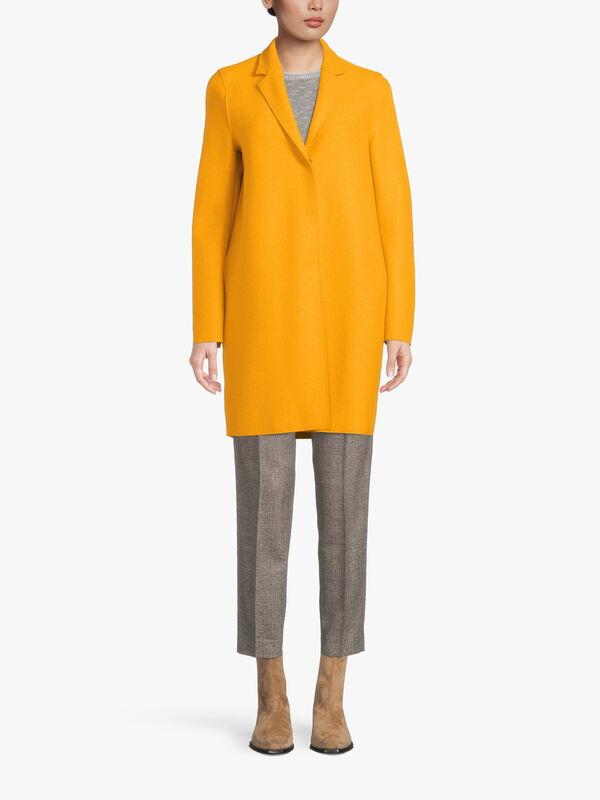 Pressed Wool Cocoon Coat