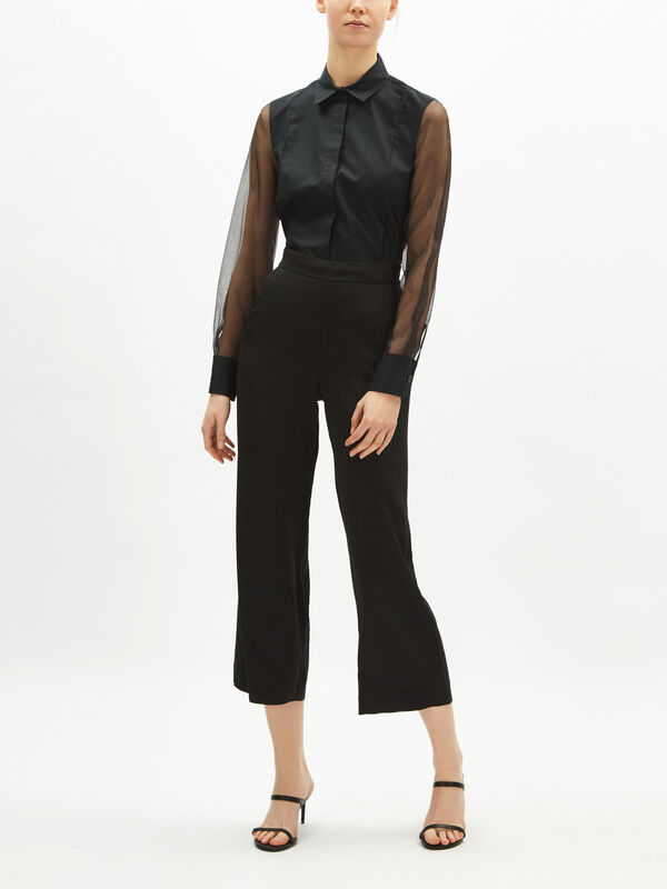 Soft Crop Straight Trouser