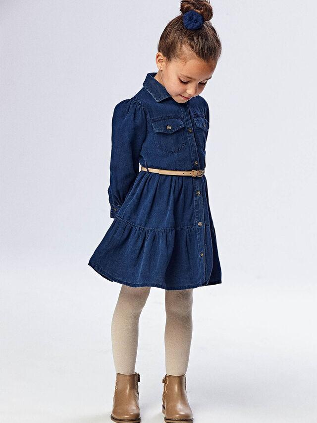Jean tiered dress