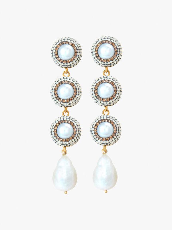Baroque Pearl Linea Earrings