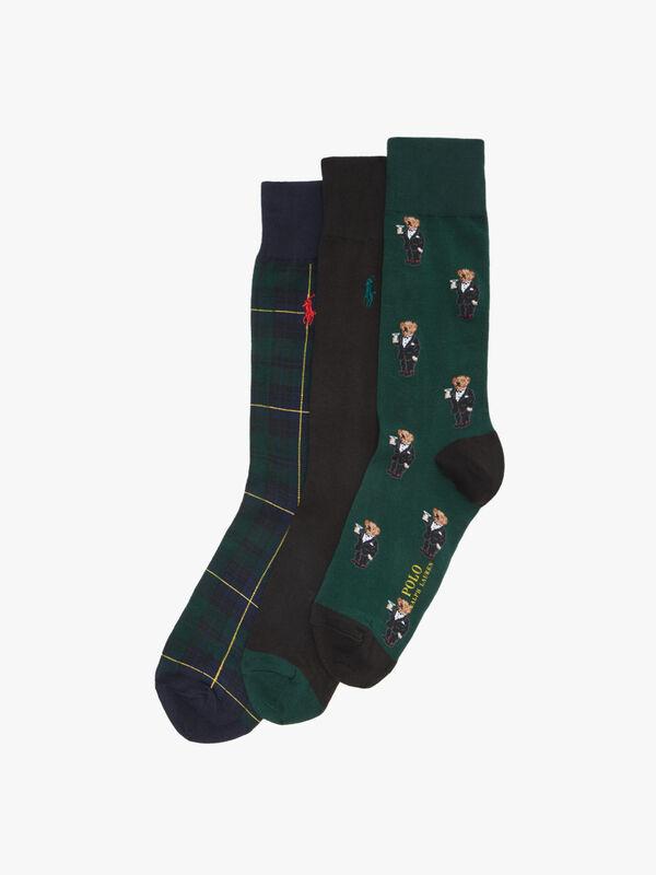 3 Pack All Over Bear Print Sock Gift Set