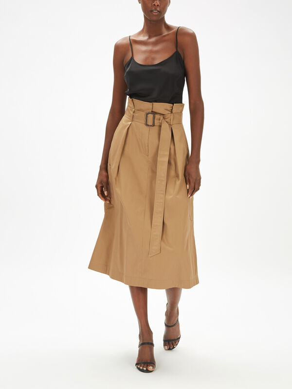 Brusson Tie Belt Skirt With Pockets