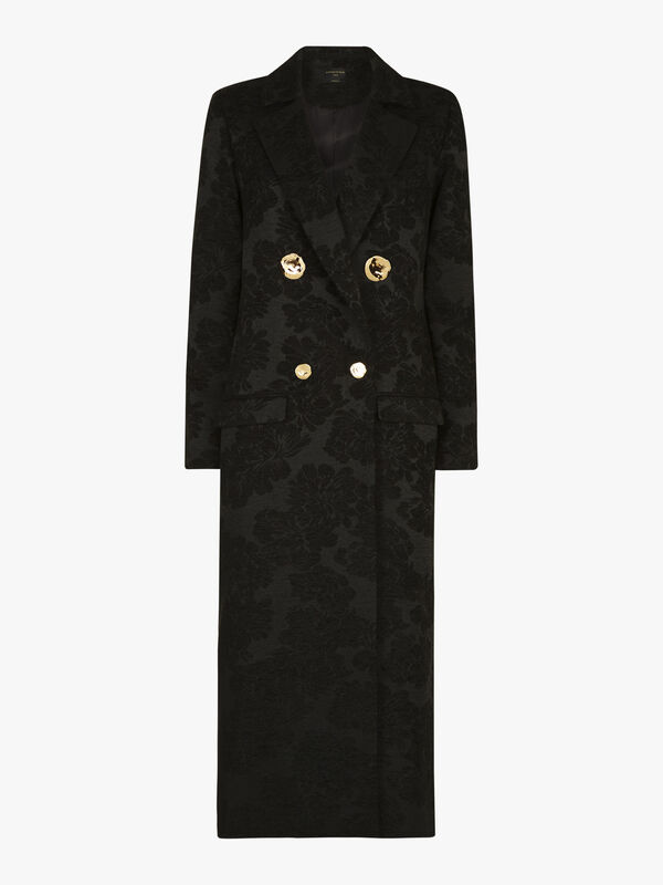 Double Breasted 4 Button Long Coat