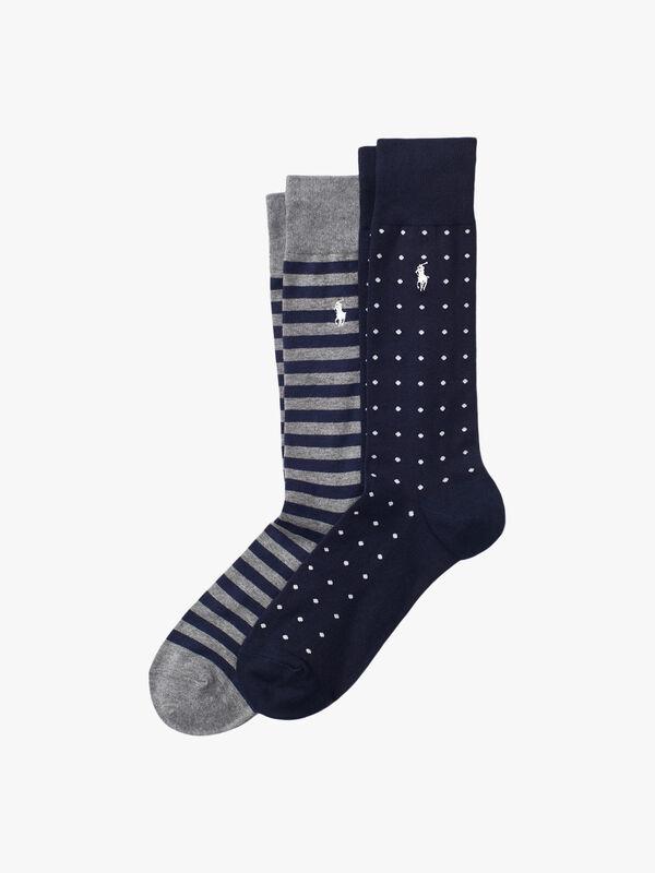 2 Pack Dot & Stripe Socks