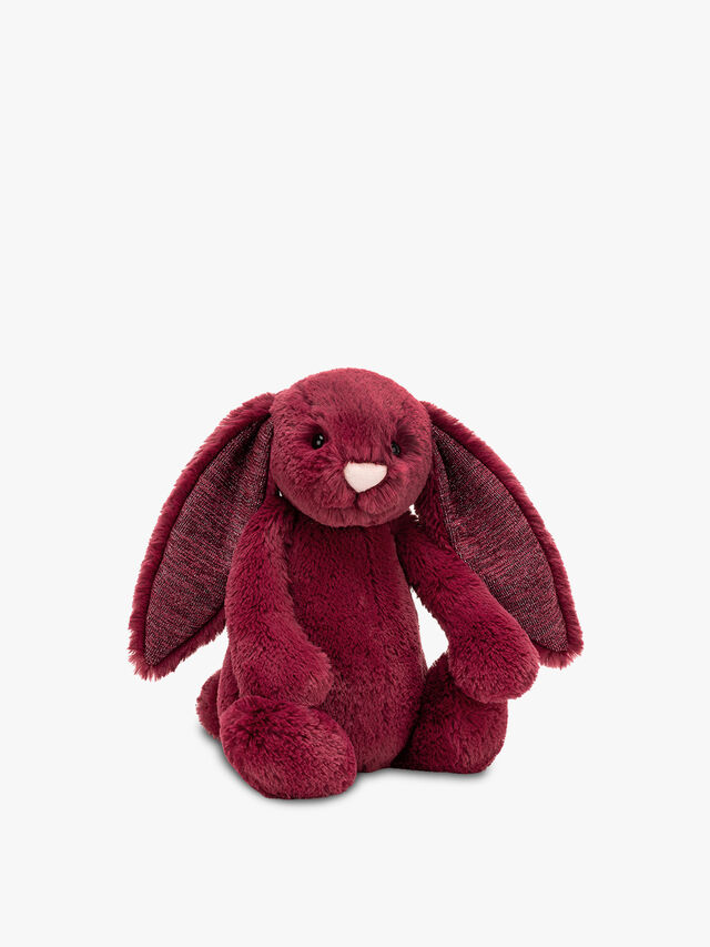 Bashful  Medium Sparkly Cassis Bunny