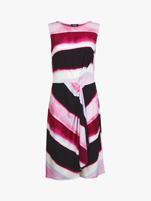 Cap Sleeve Drape Dress