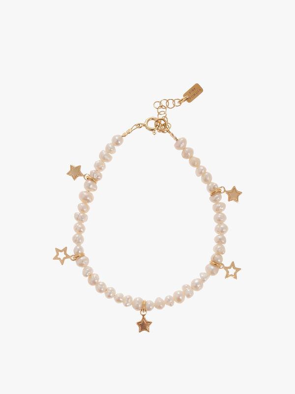 Pearl & Star Charm Bracelet