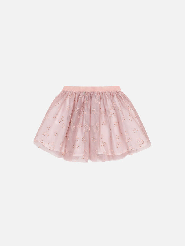 Flock Tulle Skirt