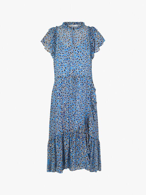 Jess Ruffle Shoulder Dress