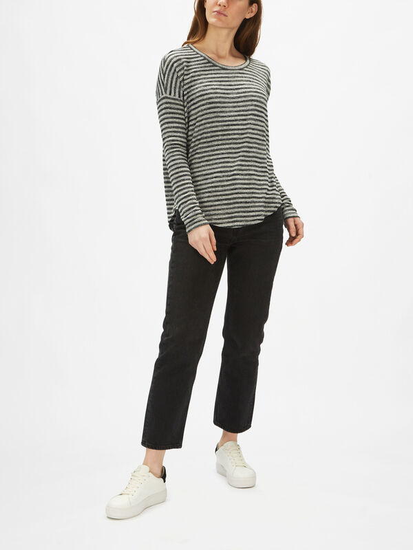 The Knit Striped Longsleeve