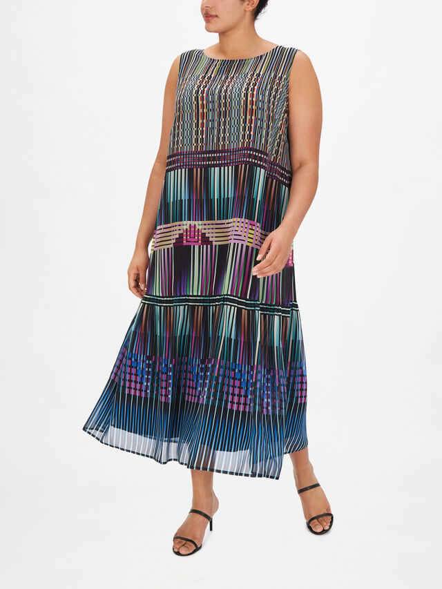 Darsen Silk A Line Maxi Dress