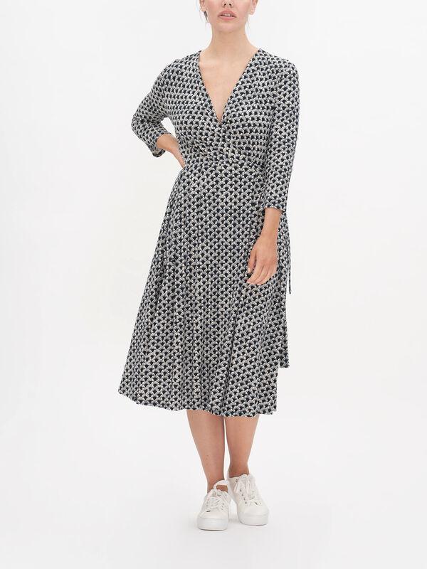Ramo Printed Wrap Dress
