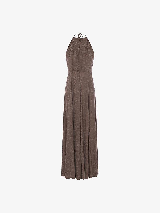 Dua Drape Keyhole Maxi Dress