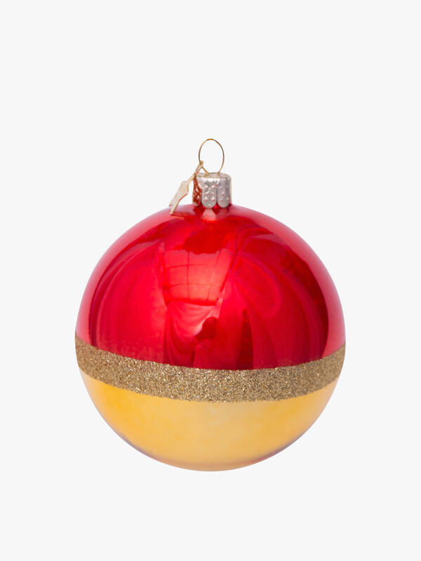 Pearl Glitter Christmas Bauble