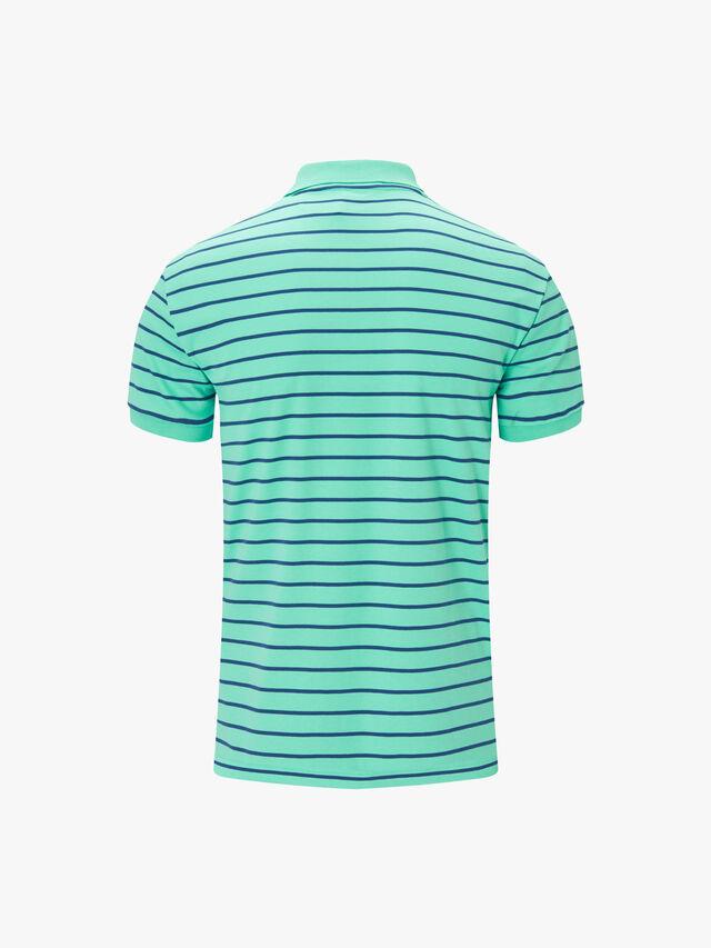 Striped Pima Polo