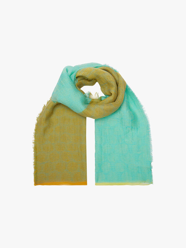 Two Colour Crinkle Scarf
