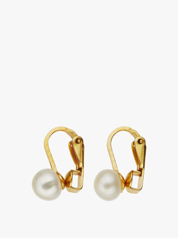 Short Fesh Water Pearl Clip Earrings