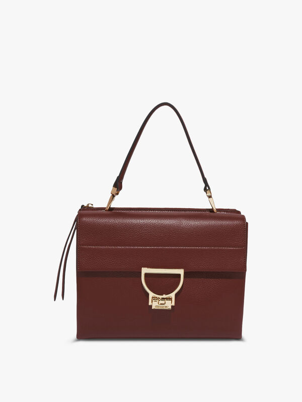 Arlettis Leather Top Handle Bag