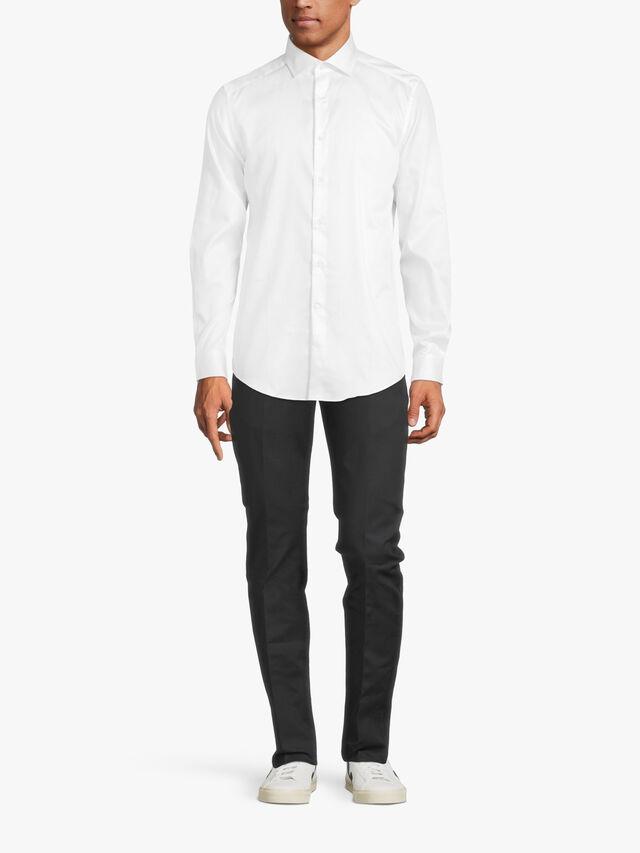 REMOTE Cotton Satin Slim Fit Shirt
