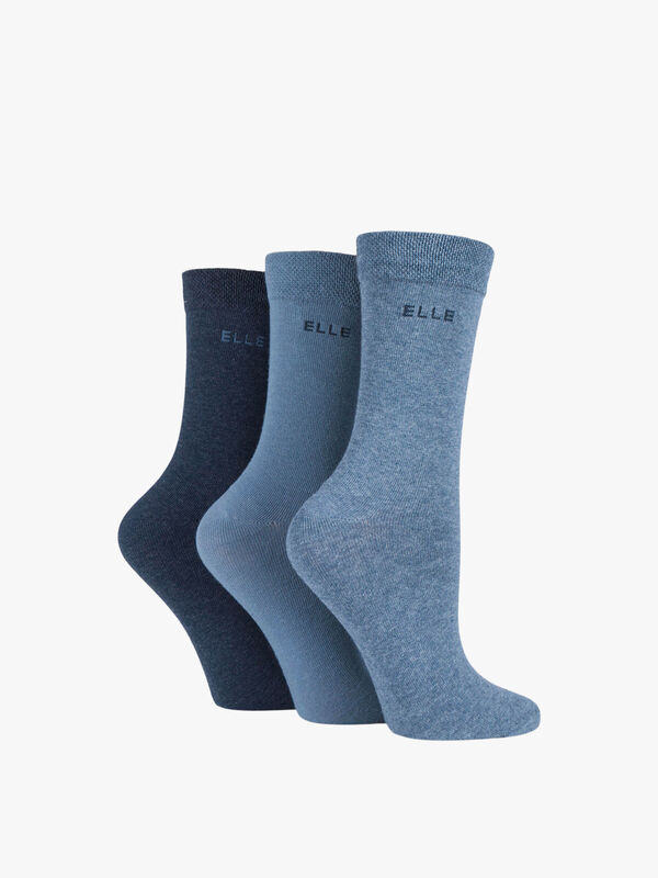 3 Pair Pack Cotton Ankle Socks