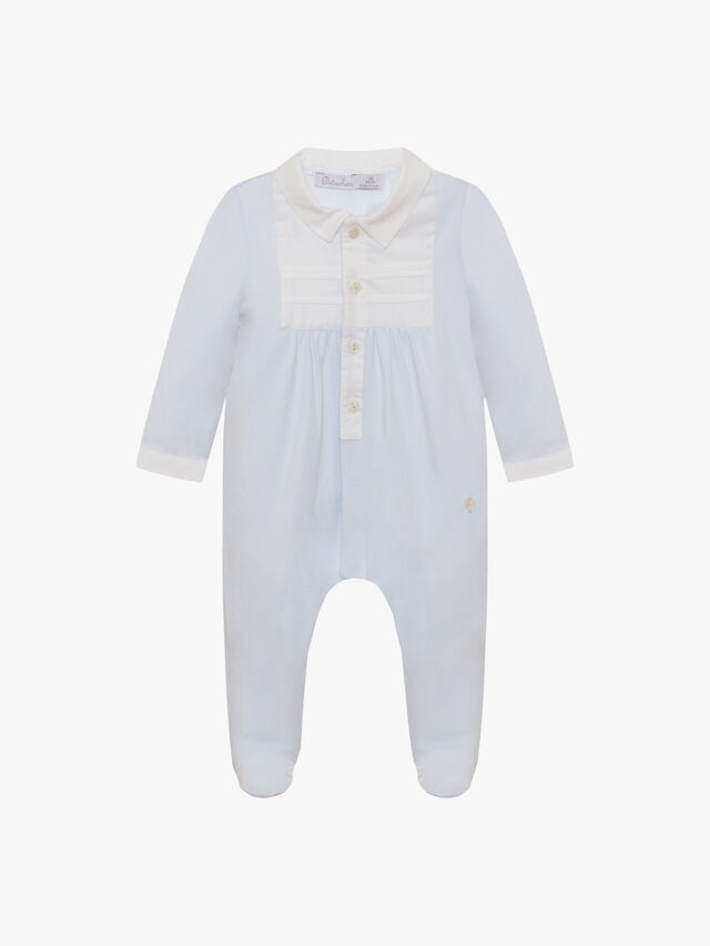Pleat and Collar Baby Grow