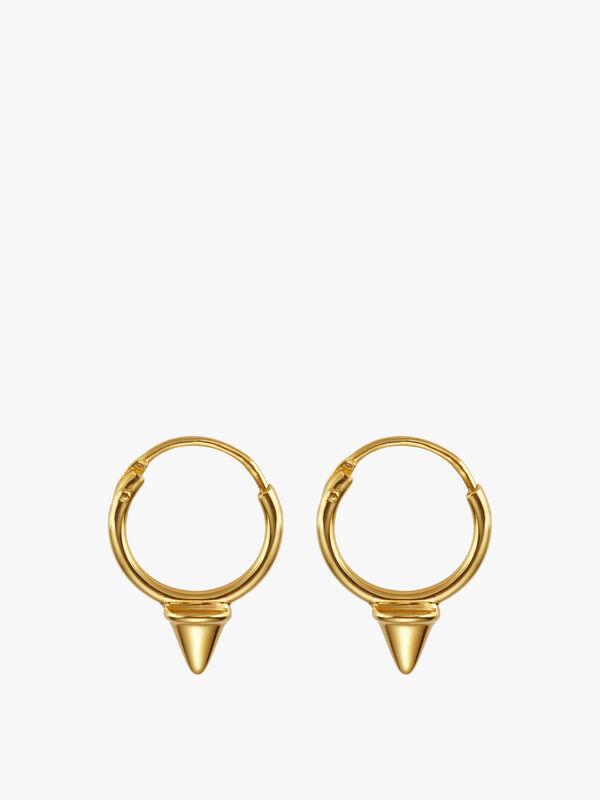 Tiny Spike Gold Hoops