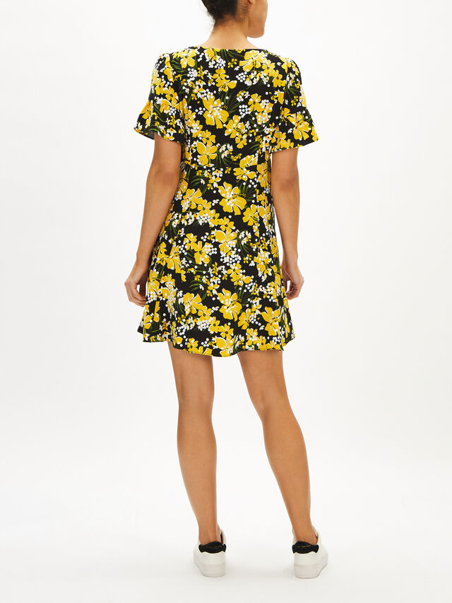 Trop Sequin Flare Dress