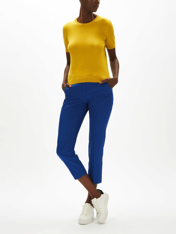 Volto Cropped Sleeve Knit