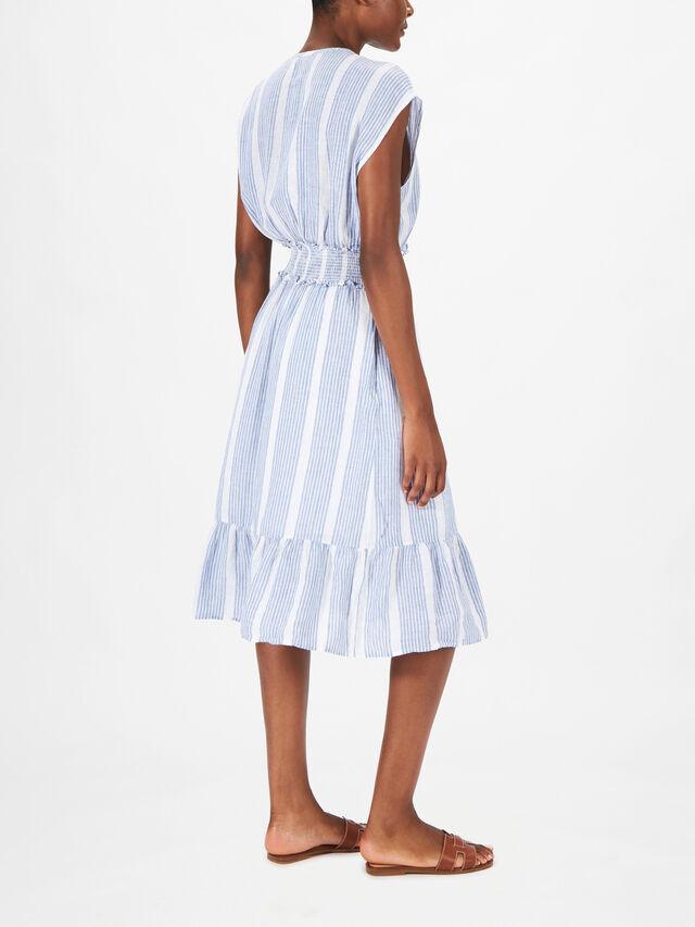 Ashlyn Striped V Neck Dress