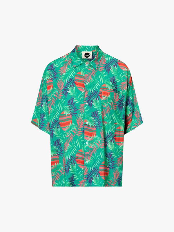 Rising Palm Open Collar Shirt