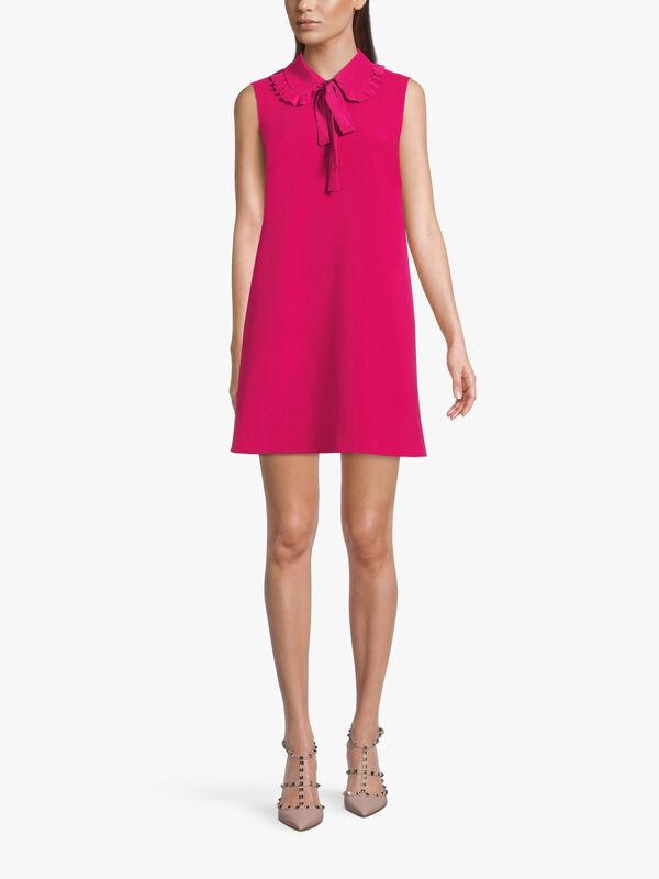 Sleeveless Collared Mini Dress