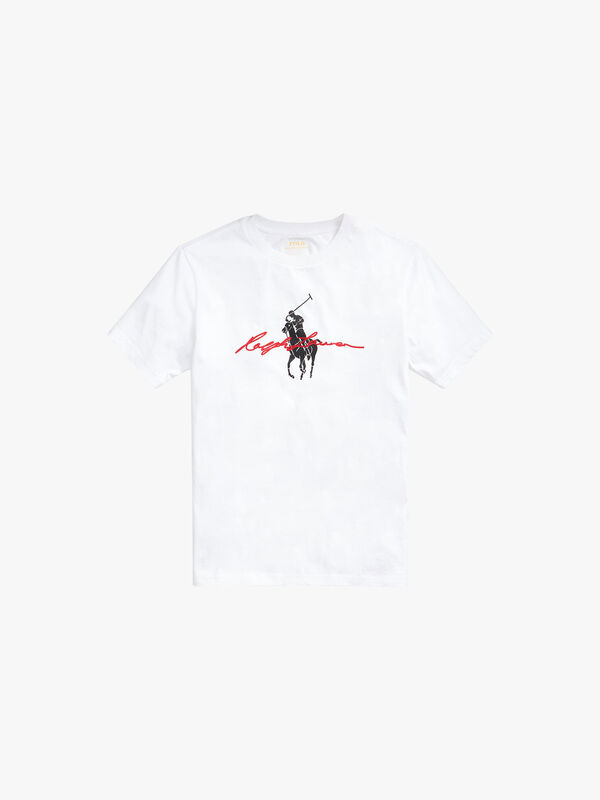 Large Pony and Script T-shirt