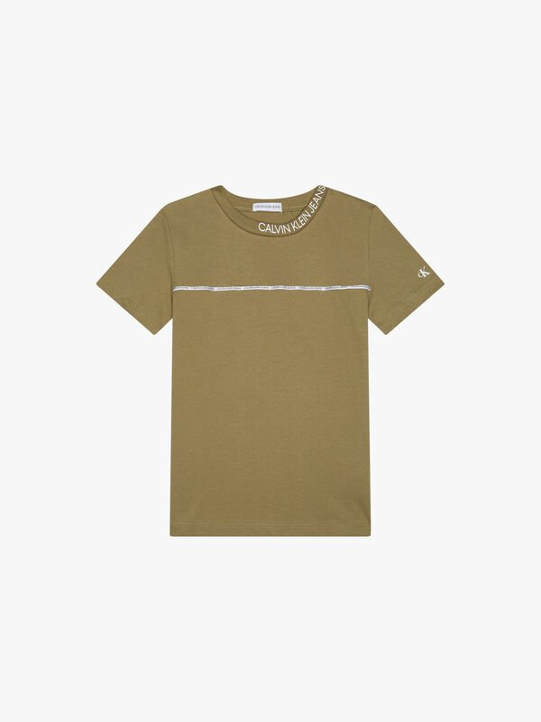 Logo Piping Fitted T-Shirt