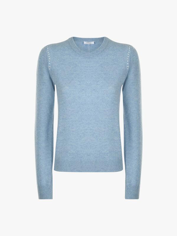 Pointelle Crew Sweater
